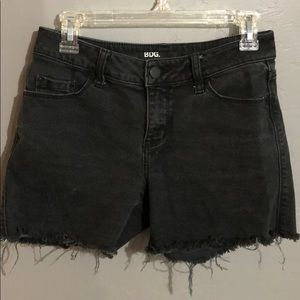 Urban outfitters cutoff black denim shorts